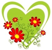 4236616-cuore-verde-e-fiori-rossi-isolate-su-un-whited-sfondo
